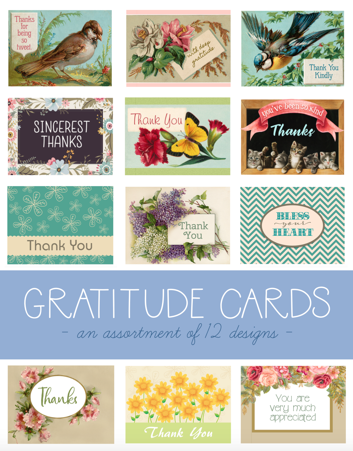 Free printable THANK YOU cards | Cultivate a heart of gratitude