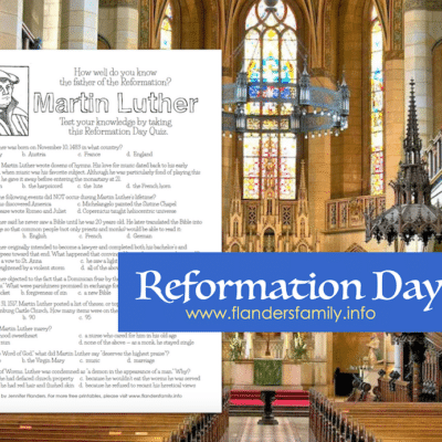 Reformation Day Quiz (with Answer Key)