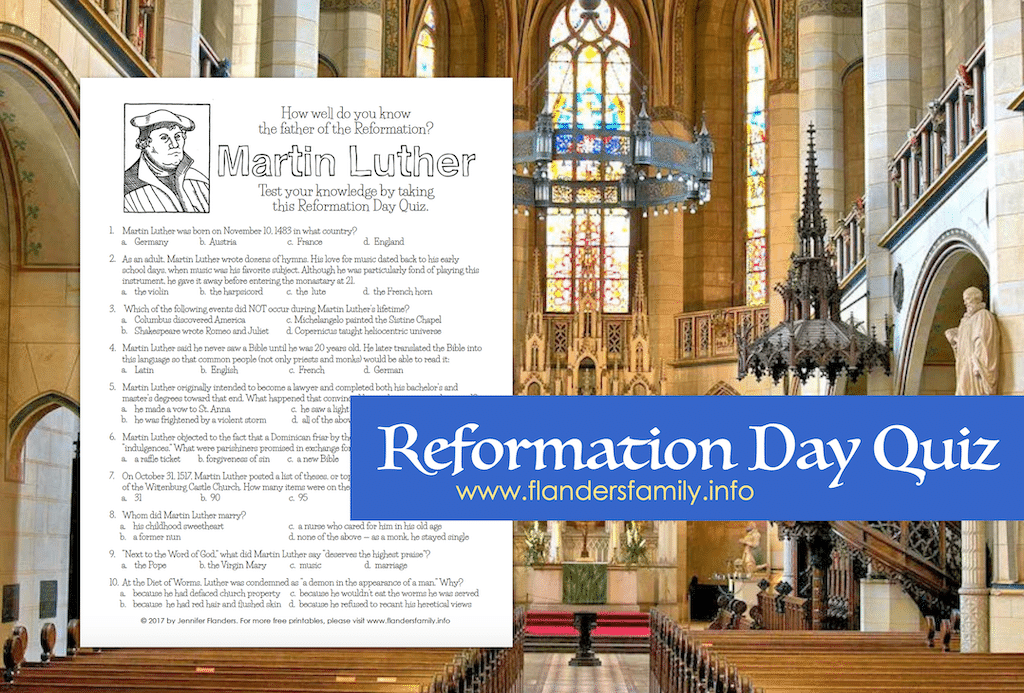 Reformation Day Quiz