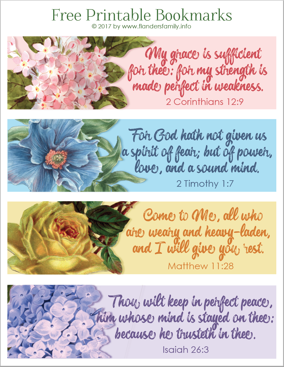 free printable scripture bookmarks to color