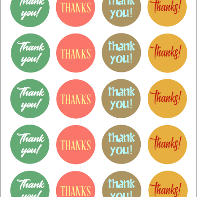 Thanksgiving Stickers & Envelope Seals