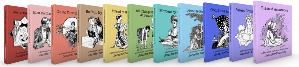 Good books are better when shared - Devotional Journals by Jennifer Flanders
