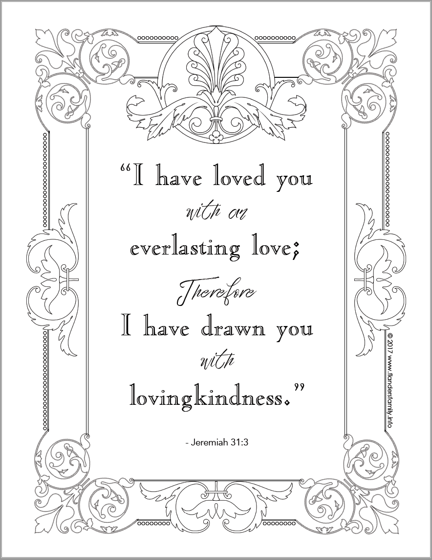 Everlasting Love Coloring Page | Bible Based | Free Printable