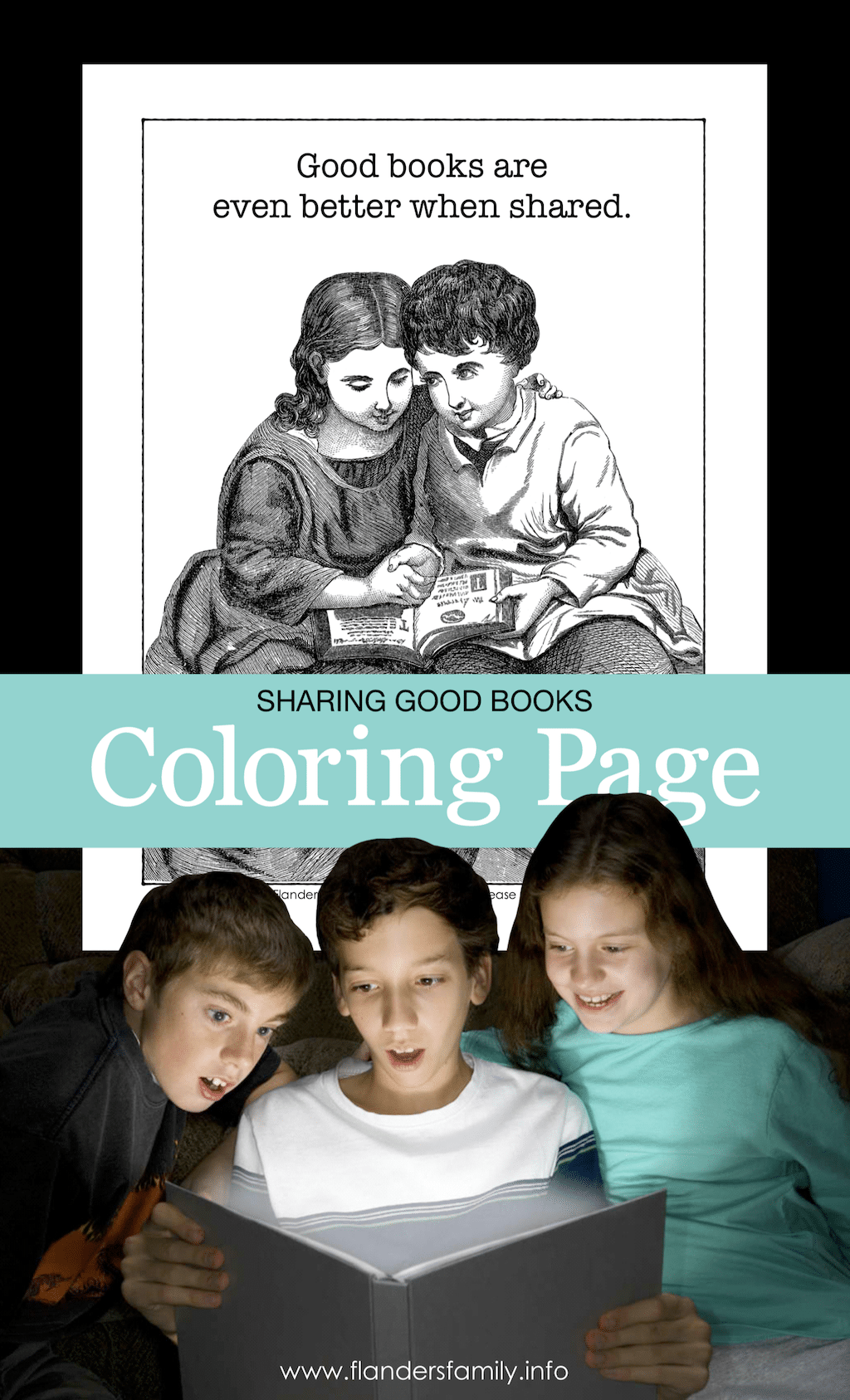 Good Books Coloring Page