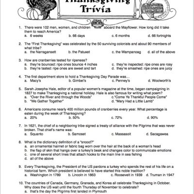 Test Your Knowledge: Thanksgiving Trivia