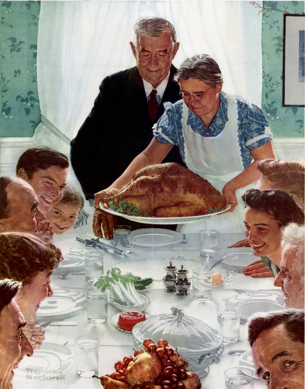"""""""Freedom from Want"""" by Norman Rockwell, 1943"""