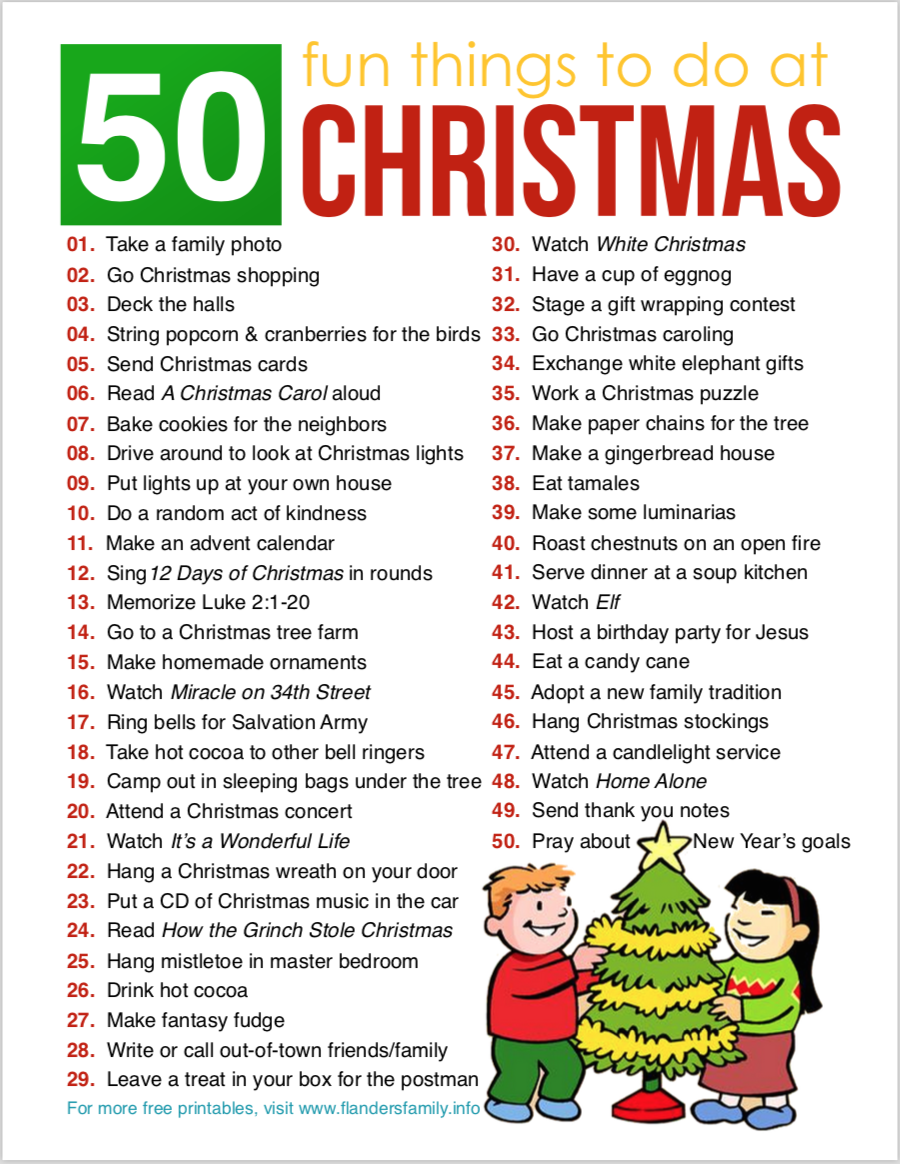 50 Fun Things to Do at Christmas
