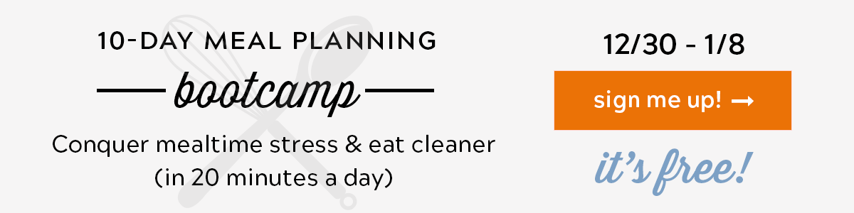 Meal Planning Bootcamp