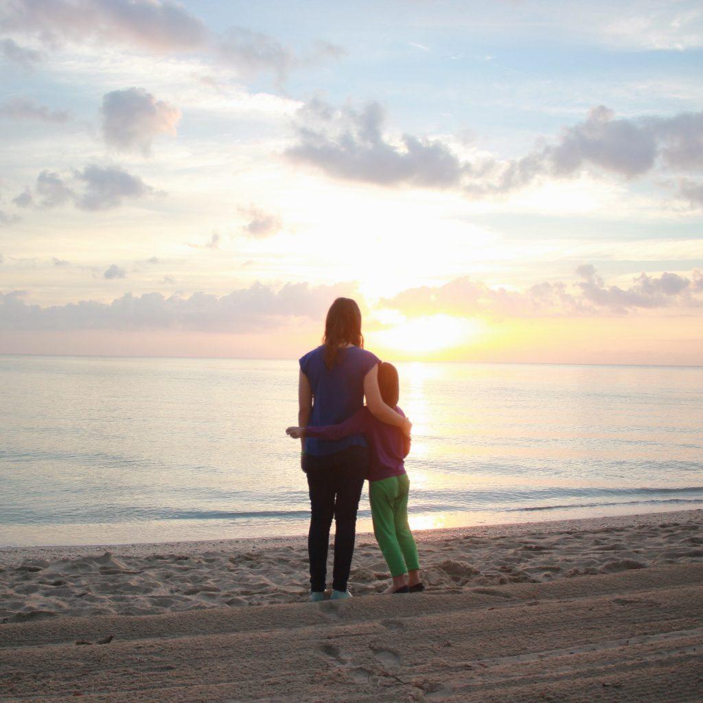 Rachel & Abby on Florida Beach