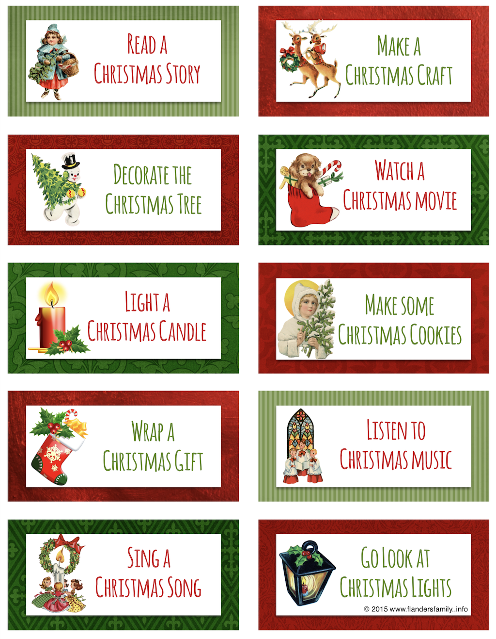 Christmas Bucket List Cards