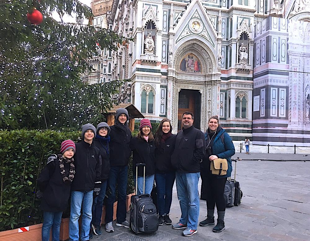 The Flanders Family Backpacks Europe