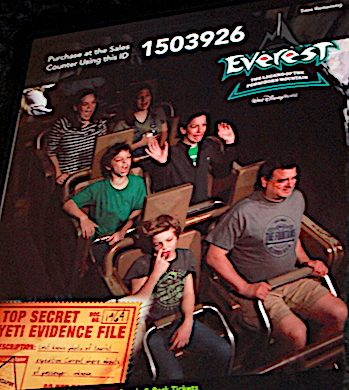 Gabriel on the roller coaster
