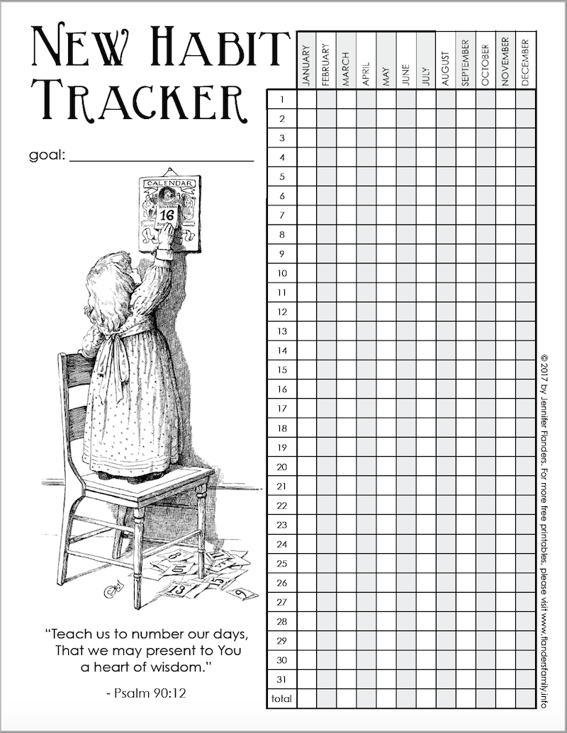graphic about Habit Tracker Printable Free known as Start off the Fresh new 12 months Specifically with a Cost-free Printable Pattern Tracker