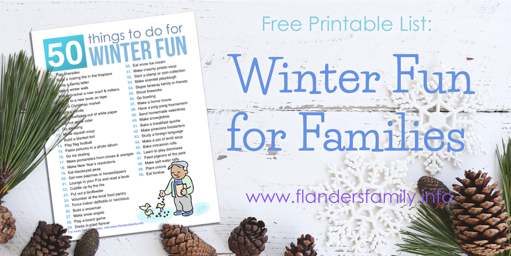 Free Printable: 50 Family Activities for Winter Fun