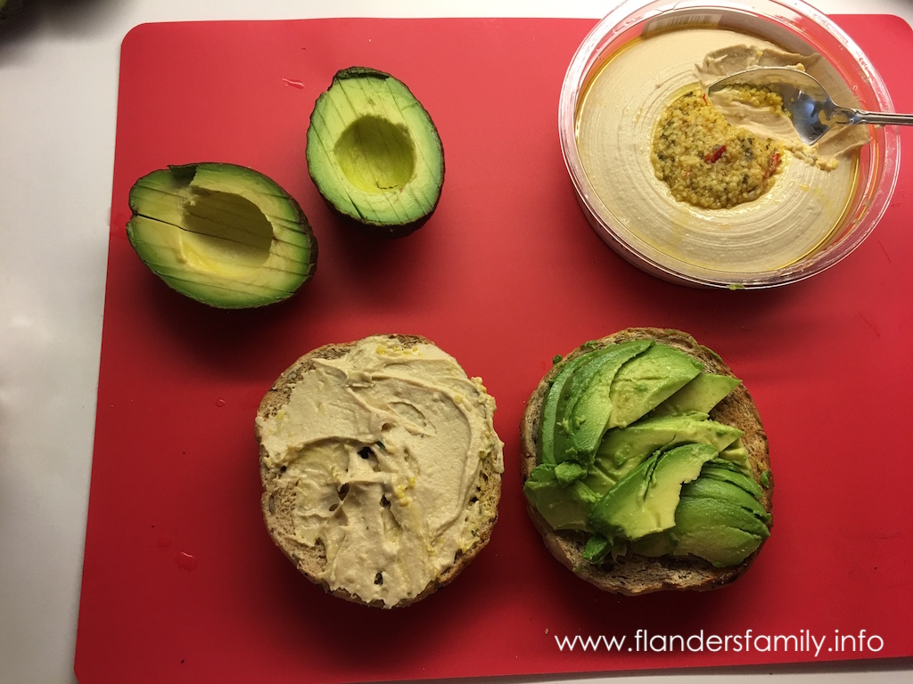 Avocado Breakfast Bagels