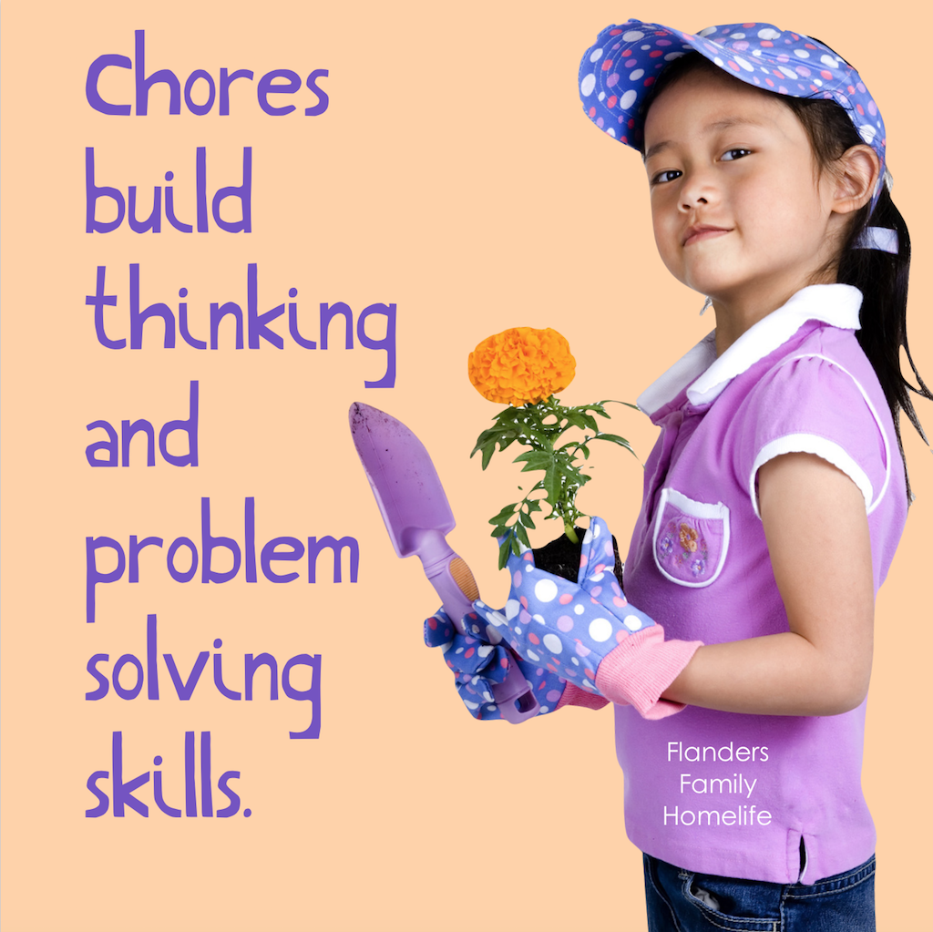 A few of the many benefits of having children do chores
