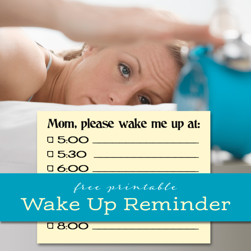 Free Wake Up Reminder