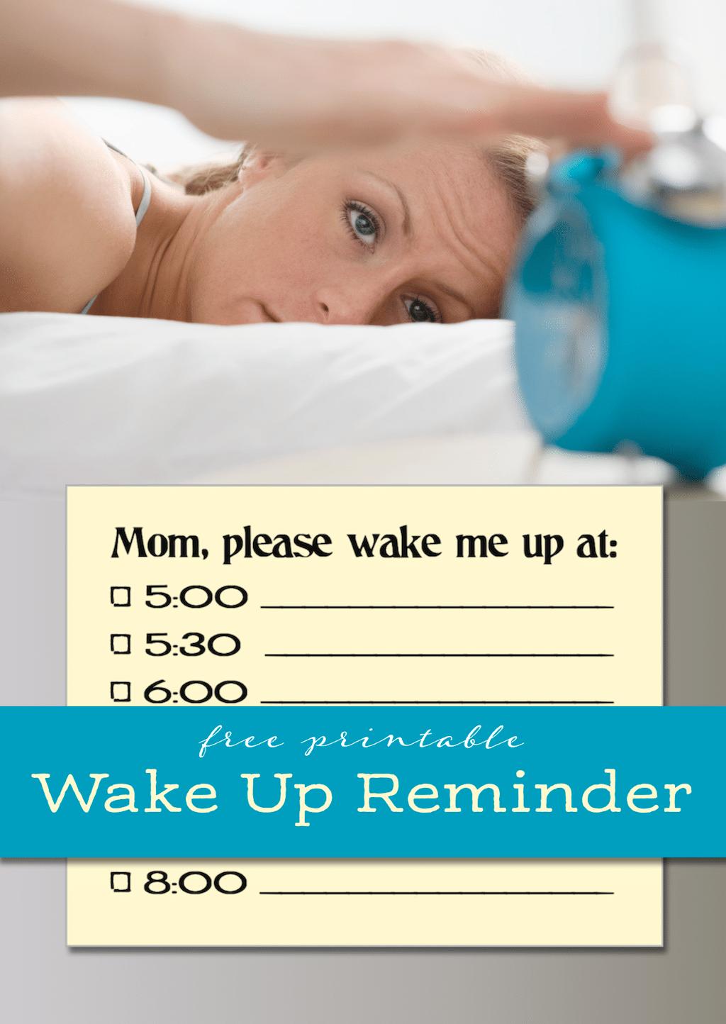 Free Wake Up Reminder
