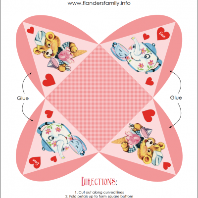 Valentine Pyramid Boxes (Free Printables)