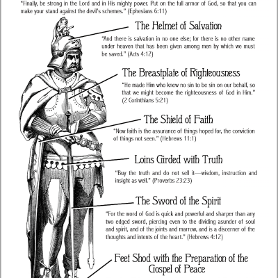 Armor of God (Coloring Page)