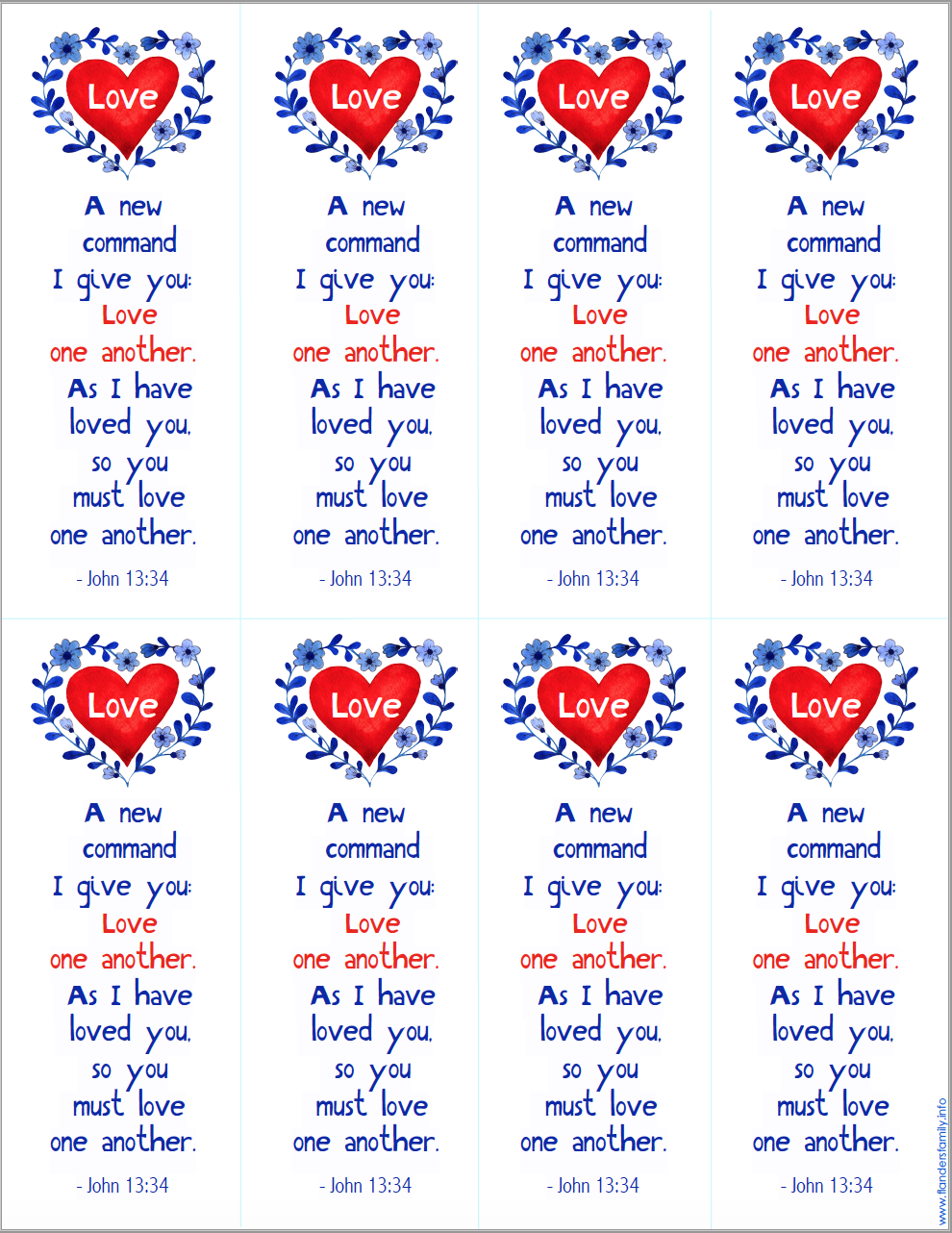 Pretty Printable Bookmarks for Valentine's Day