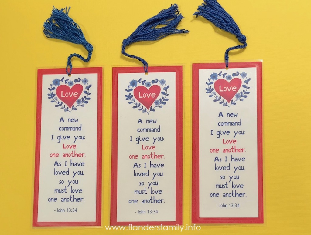 photo about Love One Another Printable identify Quite Printable Bookmarks for Valentines Working day - Flanders