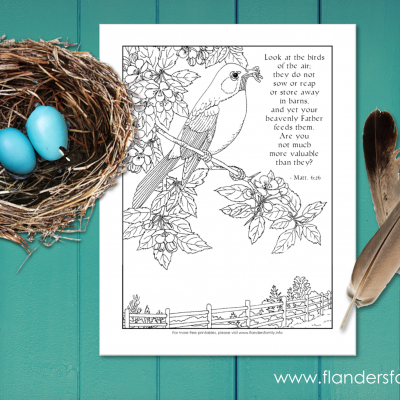 Look at the Birds (Free Printable Coloring Page)