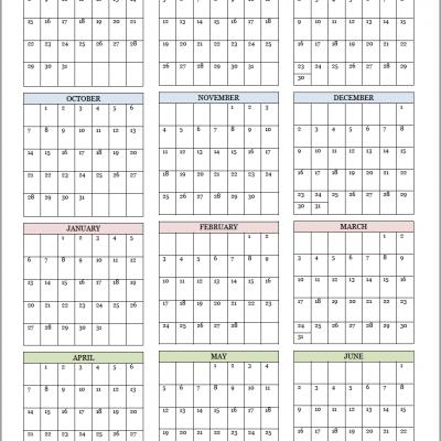 Academic Calendars for 2018-19 School Year (Free Printable)