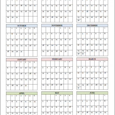 Academic Calendars for 2018-19 School Year (Free Printable)