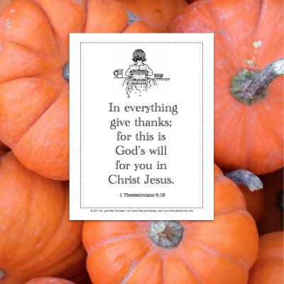 In Everything Give Thanks - Free Coloring Page