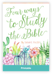 FourWaysToStudyTheBible