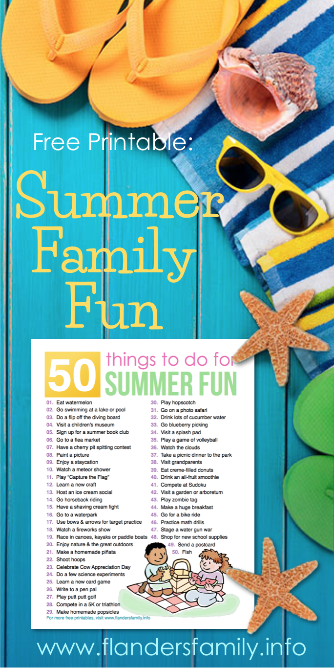 50 Ideas for Summer Fun