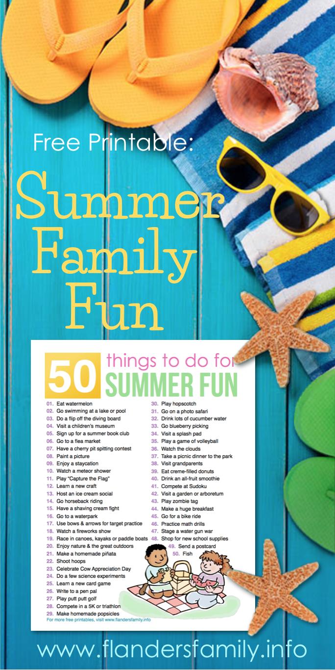 50 Ideas for Summer Fun