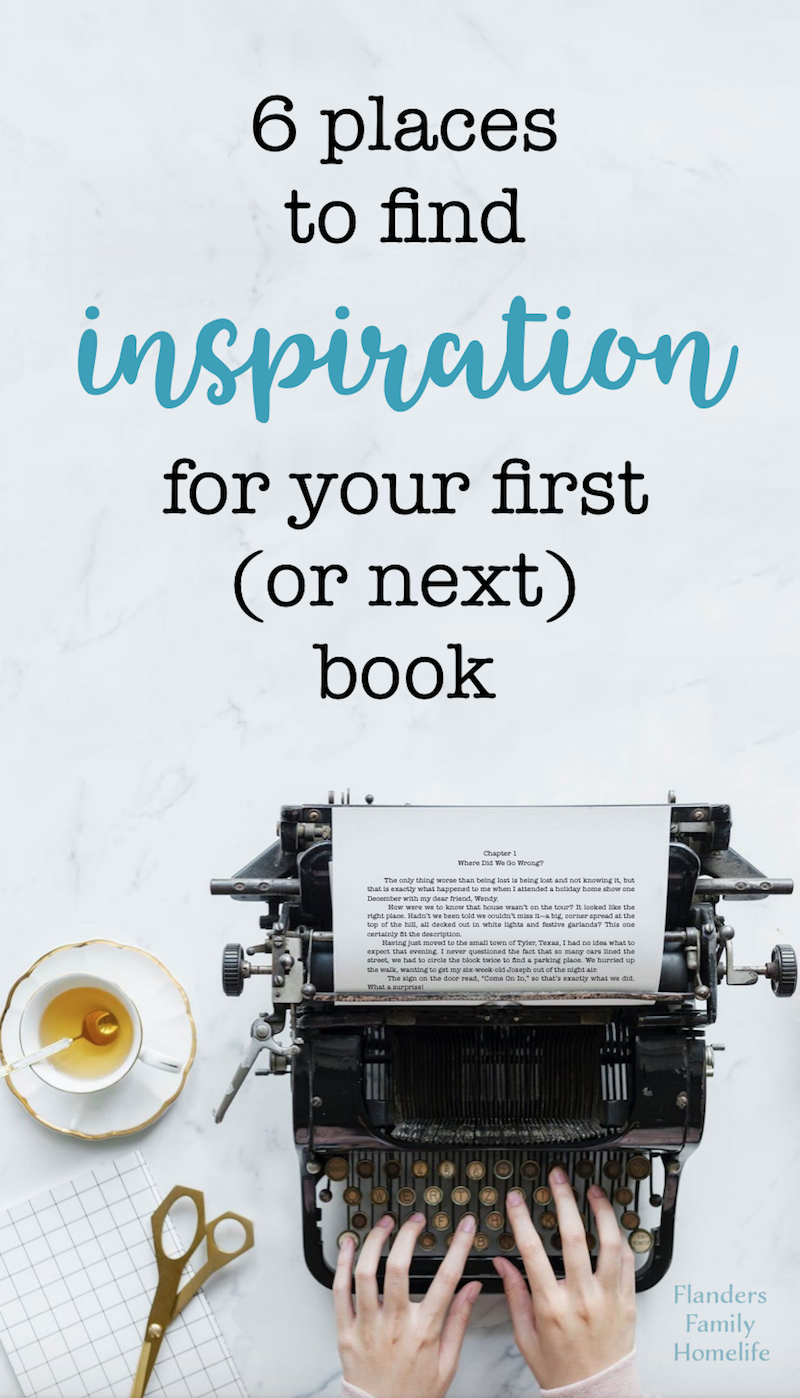 6 Places to find inspiration for writing your first (or next) book
