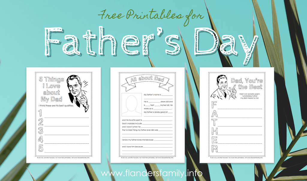 Free Father's Day Printables
