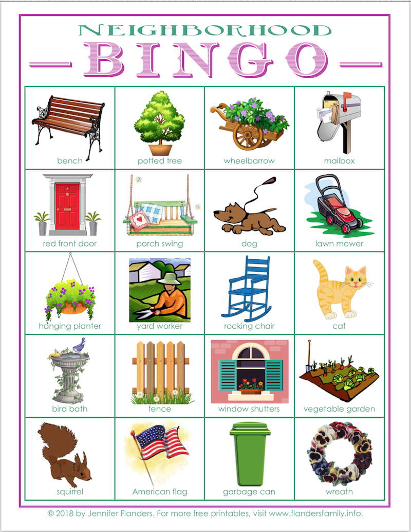 image relating to Printable Scavenger Hunt known as Local Bingo: Cost-free Printable Scavenger Hunt Playing cards