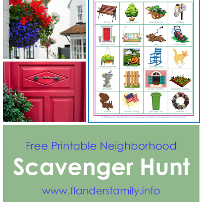 Neighborhood Bingo: Free Printable Scavenger Hunt Cards