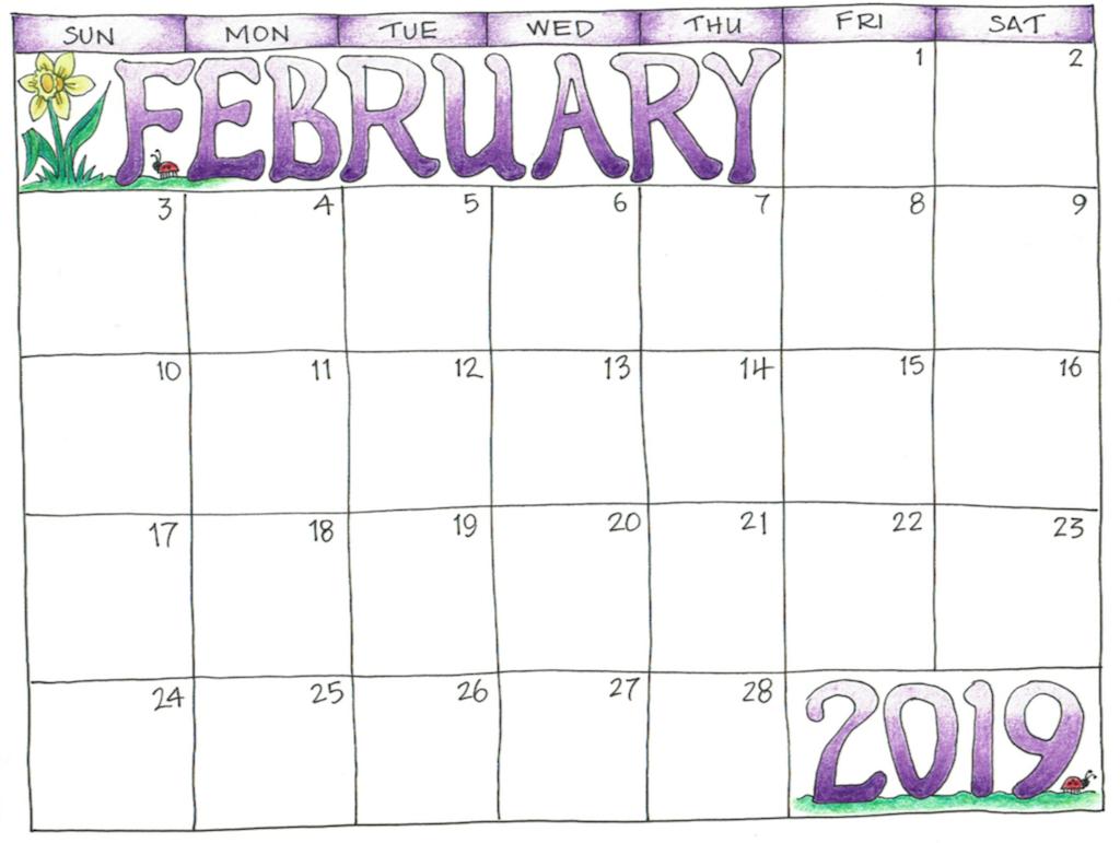 free printable 2019 scrapbooking calendars