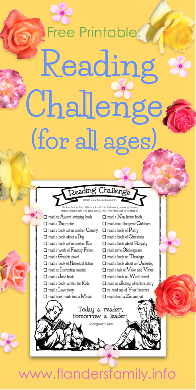 Free Printable Reading Challenge