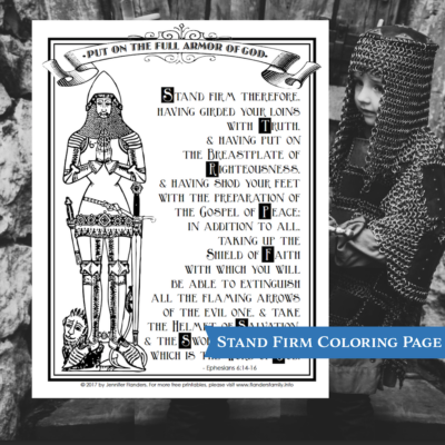 Stand Firm Coloring Page (Free Printable)