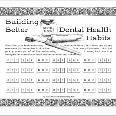 Tracking Dental Health & Other Good Habits