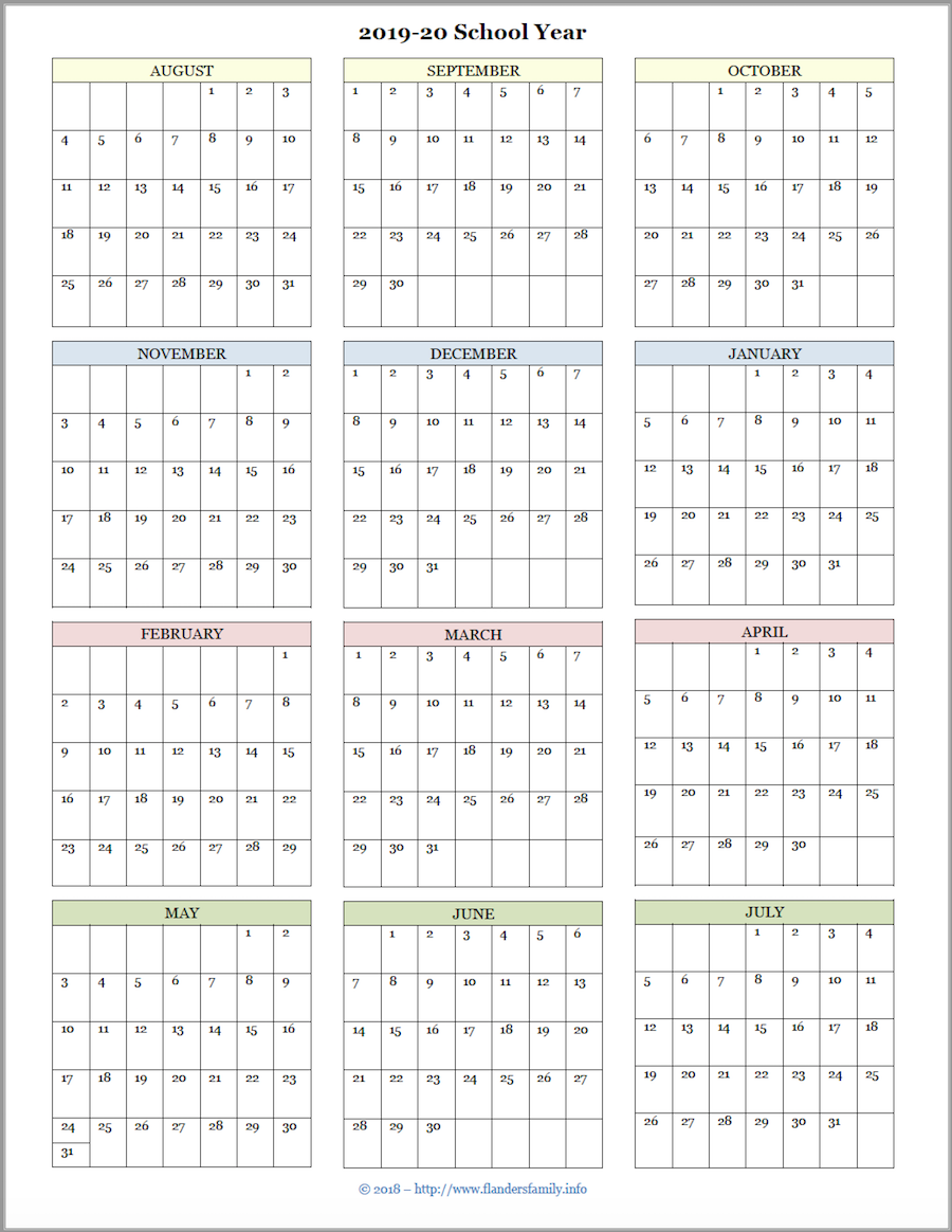2020 Calendar 2019 Printable.Mailbag Monday More Academic Calendars 2019 2020