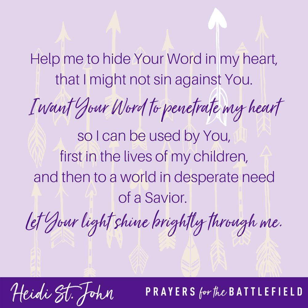 Hide His Word in Your Heart