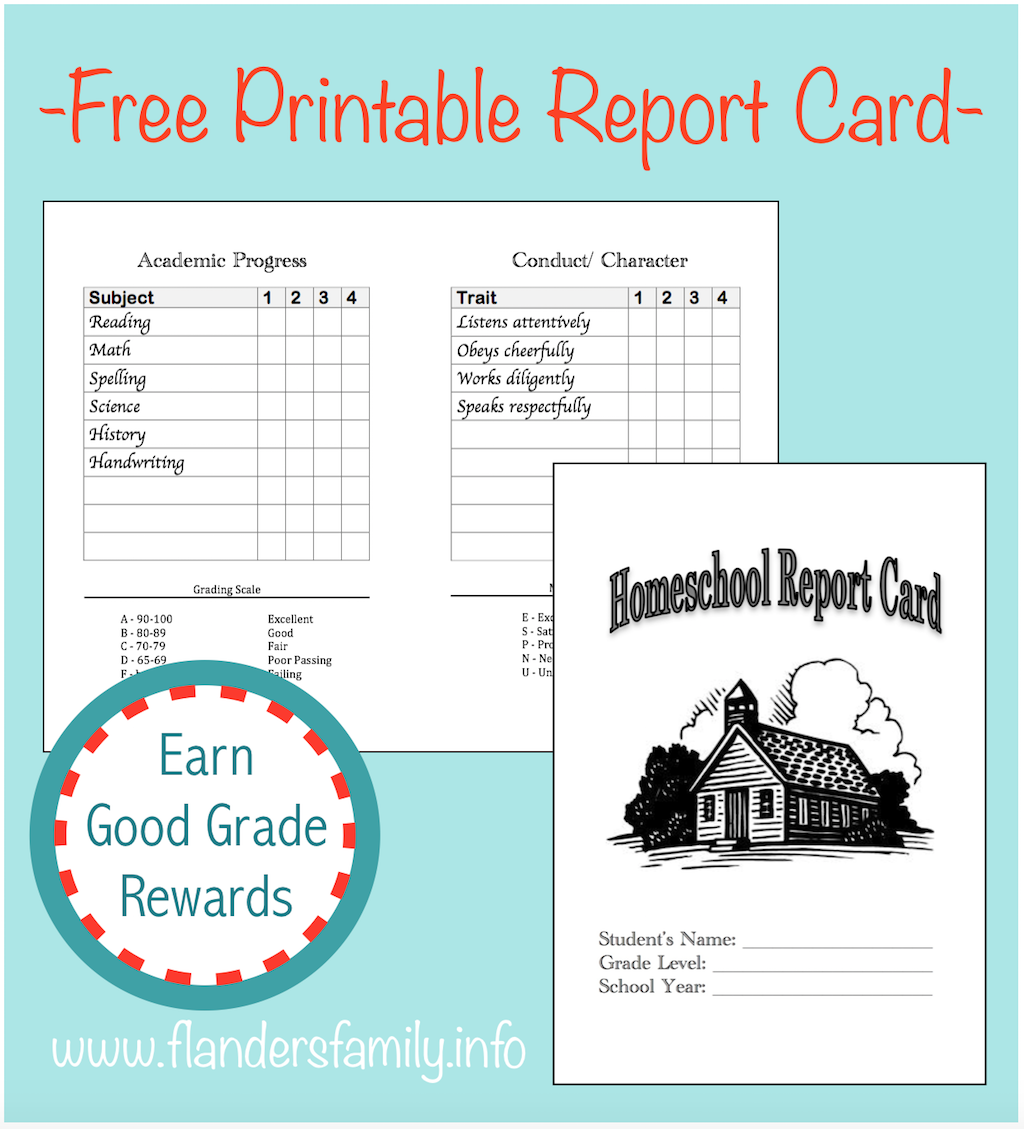 photo about Printable Report Card known as Homeschool Article Playing cards - Flanders Spouse and children Homelife