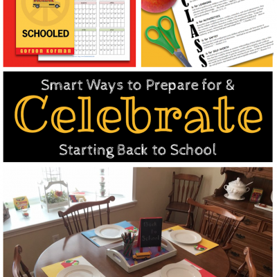 Ideas for Celebrating Back-to-School