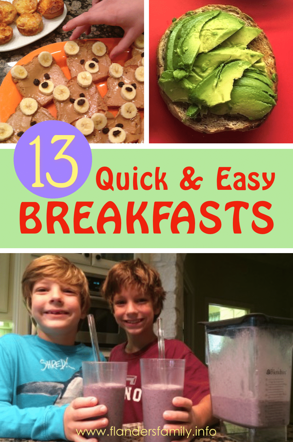 13 Quick and Easy Breakfast Ideas