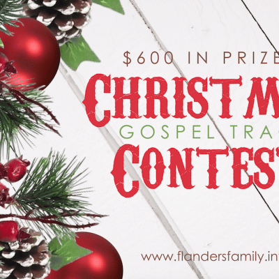 Christmas Gospel Tract Contest