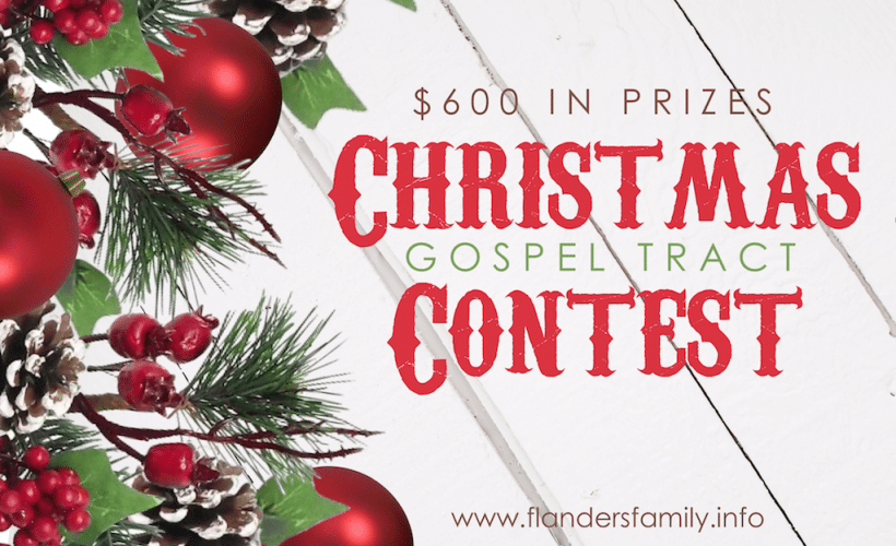 Chirstmas Gospel Tract Contest