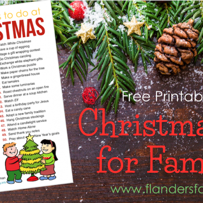 50 Fun Things for Your Family to Do this Christmas - Free Printable