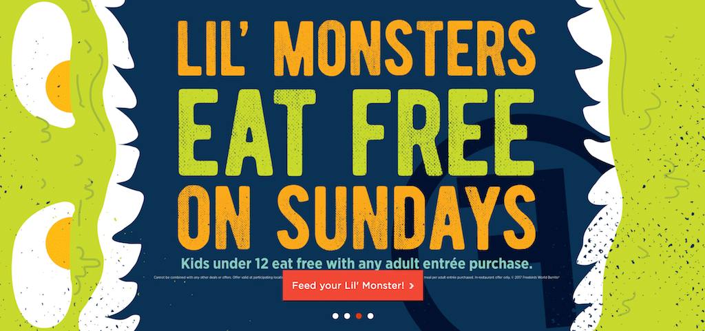 Kids Eat Free at FreeBirds on Sundays